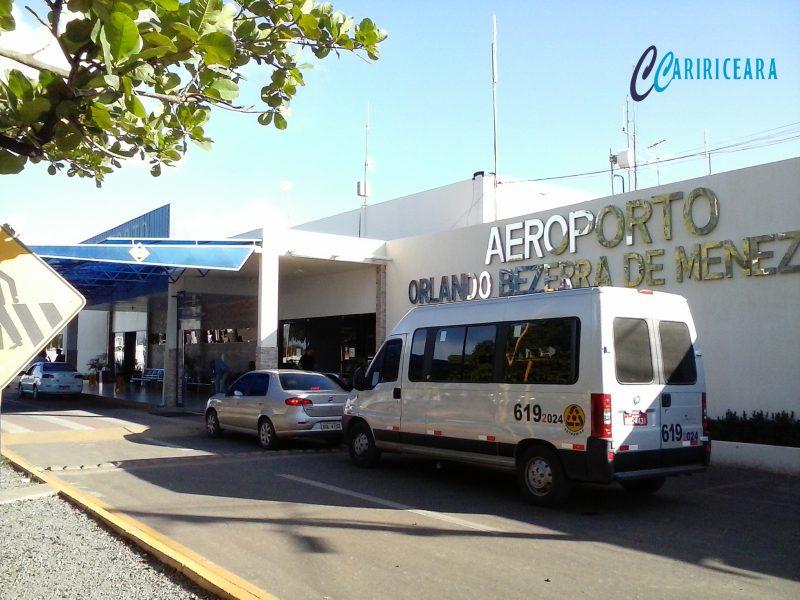 Aeroporto Orlando Bezerra de Menezes, em Juazeiro do Norte. Foto: Jota Lopes/Agência Caririceara.com