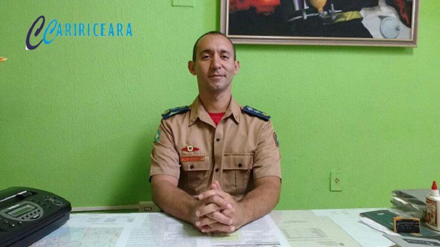 Major Noberto Santos, Comandante do Corpo de Bombeiros em Crato