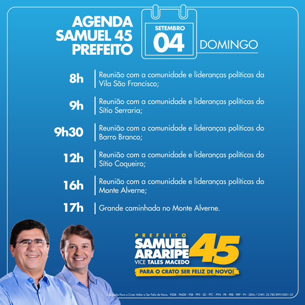 Agenda- SAMUEL 04.09