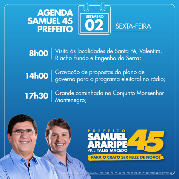 Samuel agenda 03.09.16