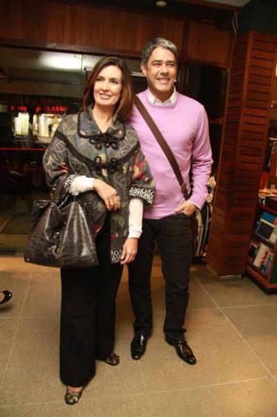 Fátima Bernardes e William Bonner: separados após 26 anos Foto: Raphael Mesquita / Photo RioNews