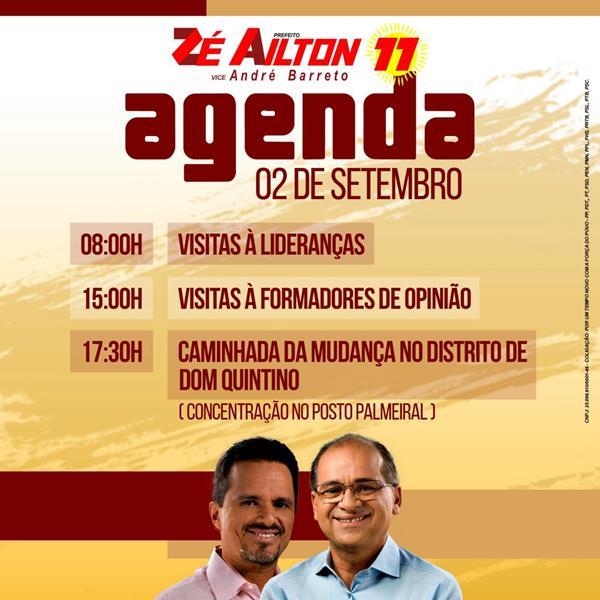 ze e andre agenda 03.09.16