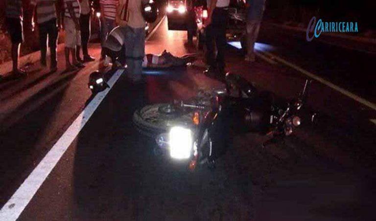 Operador de máquinas morre após ser atropelado por motocicleta na CE 293, em Barbalha.