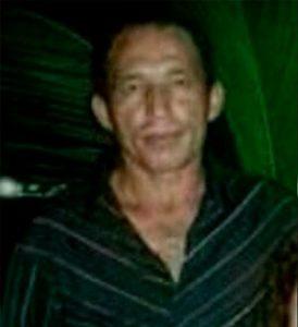 """Sandoval Raimundo Duarte, 44 anos, apelidado por """"Val de Demar"""" vítima de lesão a faca seguida de morte ocorrida dia 22 de outubro de 2016, em Farias Brito-CE"""