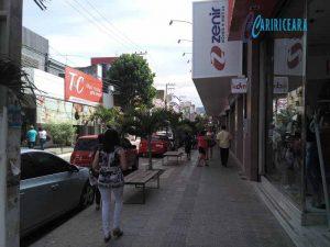 Rua Dr. João Pessoa, centro do Crato. Foto Jota Lopes Agência Caririceara.com
