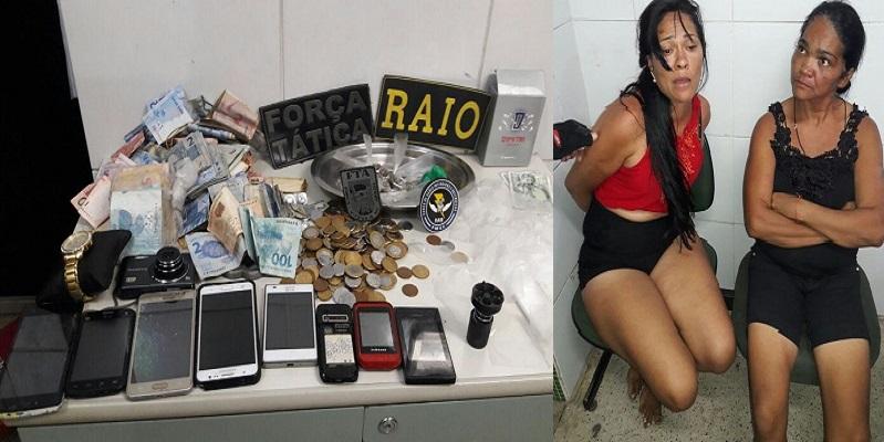 Luciana Silva Santos, 28 anos de idade e Cícera Maria dos Santos de 45 ano presos em Juazeiro do Norte