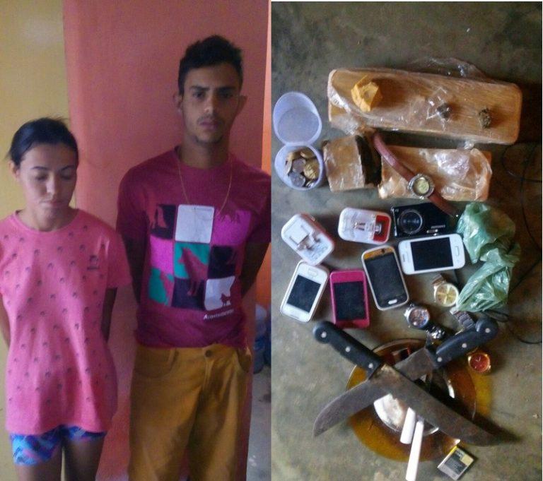 Marido e mulher são presos em Assaré acusados de trafico de drogas.