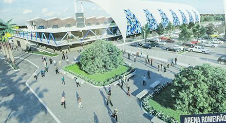 Projeto da Arena Romeirão tem número de assentos ampliado para mais de 16 mil lugares