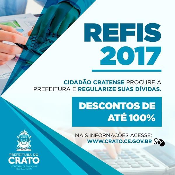 REFIS 2017: Crato atenderá interessados em regularizar suas dívidas para com o município a partir de 1º de agosto