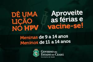 Ceará intensifica vacinação contra HPV