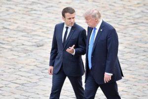 Trump e Macron reforçam laços em Paris, apesar das divergências climáticas