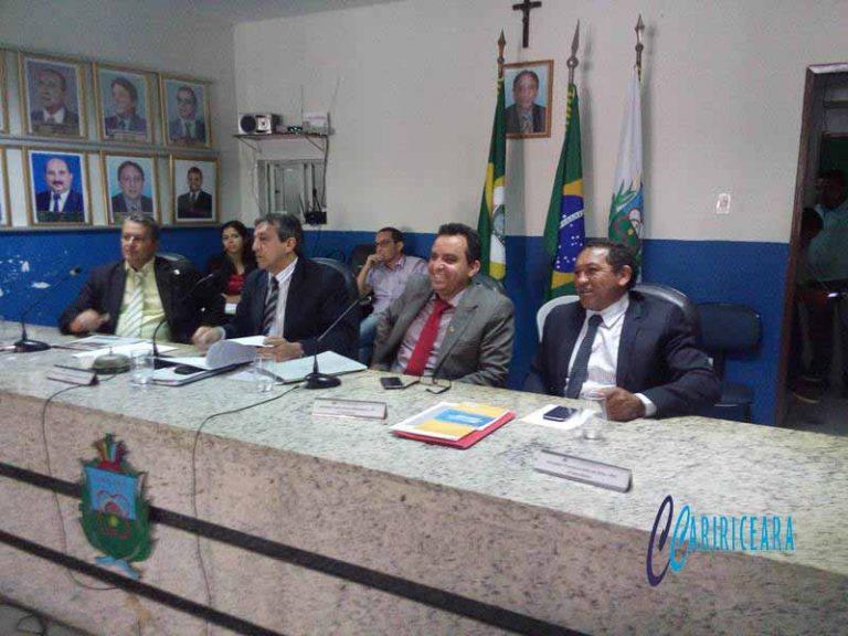 CÂMARA DO CRATO Sessão desta terça recebeu comunidade surda e debateu a questão dos transportes alternativos