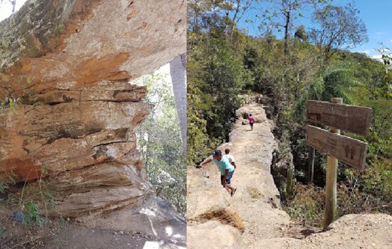 Resultado de imagem para fotos de  rachaduras na Ponte de Pedra em Nova Olinda