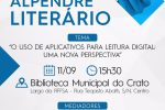 Biblioteca Municipal do Crato realiza I° Alpendre Literário na próxima segunda-feira, 11
