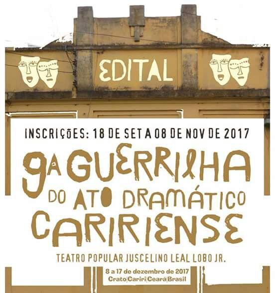 Guerrilha 2017 abre inscrições e será realizada no Teatro Popular Juscelino Leal Lobo Jr.