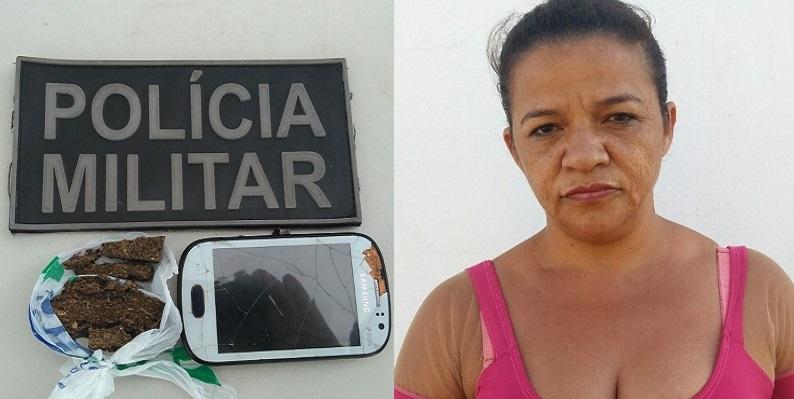 Mulher é flagrada com mala transportando maconha no João Cabral, em Juazeiro.
