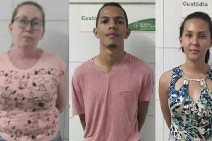 Mãe, companheiro e filha presos por tráfico de droga em Assaré