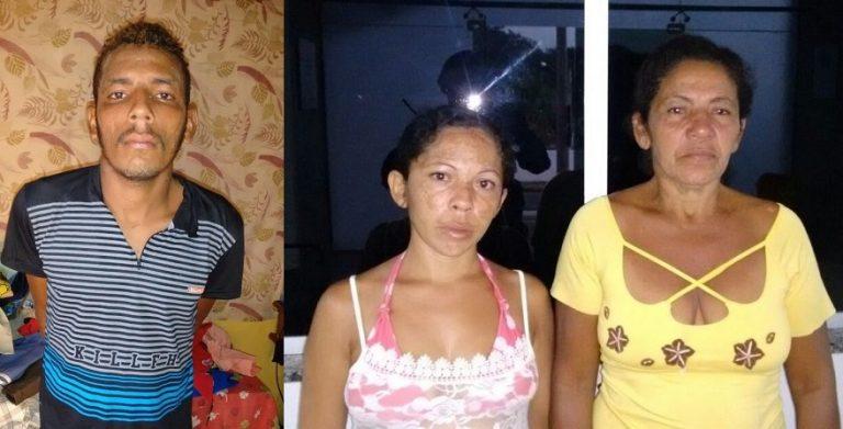 Mãe e casal de filhos são presos em Crato por trafico de drogas no sertãozinho