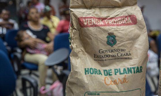Agricultores de Juazeiro do Norte recebem 9 toneladas de sementes do Hora de Plantar
