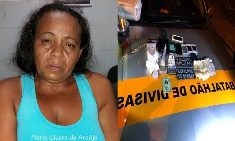 """Em operação, Polícia Militar prende """"Vovó do tráfico"""" em Barbalha"""