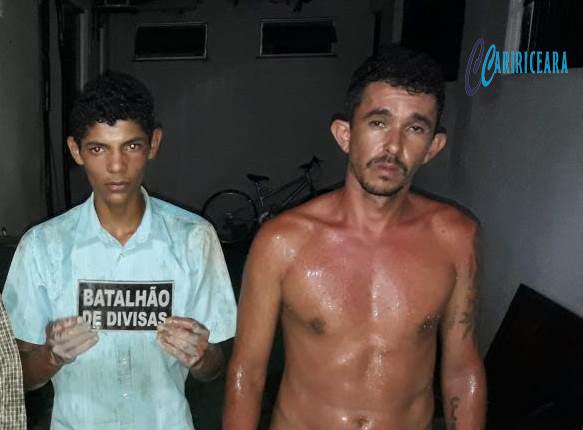 Acusado de recrutar jovens para cometer assaltos, é preso junto com comparsa por militares do Batalhão de Divisas de posse de peças de motos roubadas.