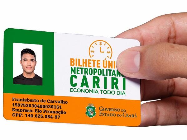 Bilhete Único é lançado no município do Crato