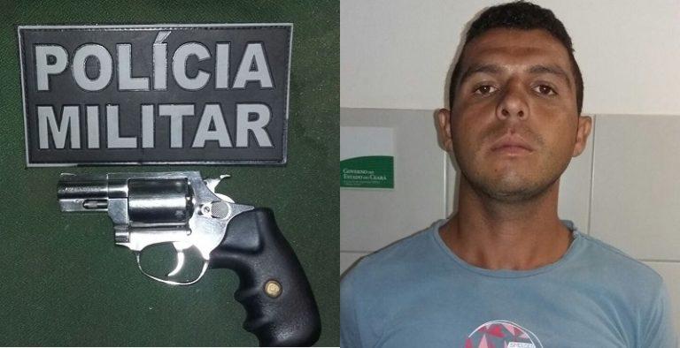 Suspeito de matar flanelinha em Crato é preso  pela  PM de posse de arma de fogo