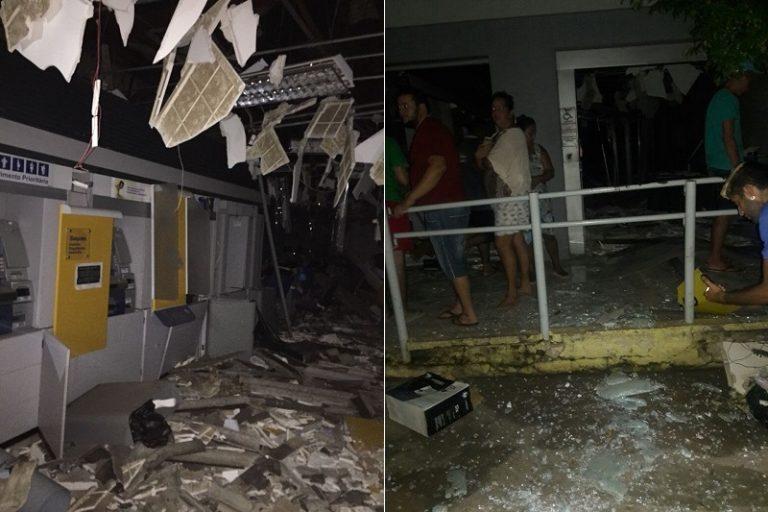 Quadrilha  explode agência do Banco do Brasil em Santana do Cariri