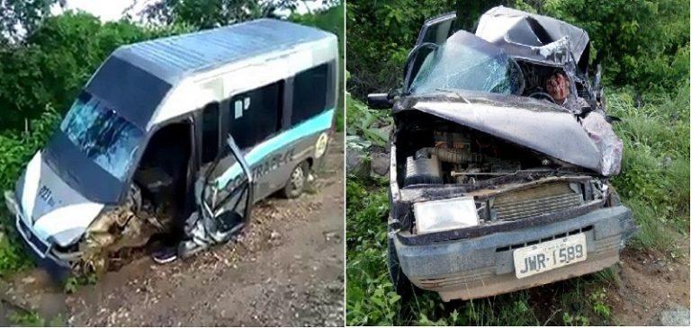 Um morto e dois feridos em colisão entre Minibus e automóvel na CE 176, em Assaré
