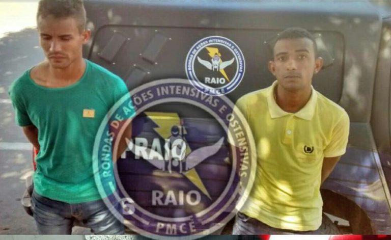 Após tomar moto de assalto em Crato dupla é preso em Juazeiro pelo Raio