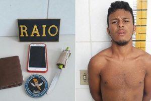 Em Juazeiro, maior de 18 anos e menor de 12 são conduzidos a 20ª DRPC pelo RAIO acusados de assalto