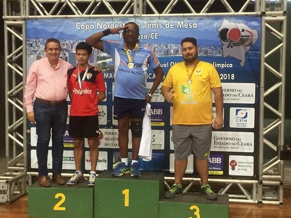 TÊNIS DE MESA Policial Militar do Ceará conquista 1º lugar na Copa Nordeste de Tênis de Mesa