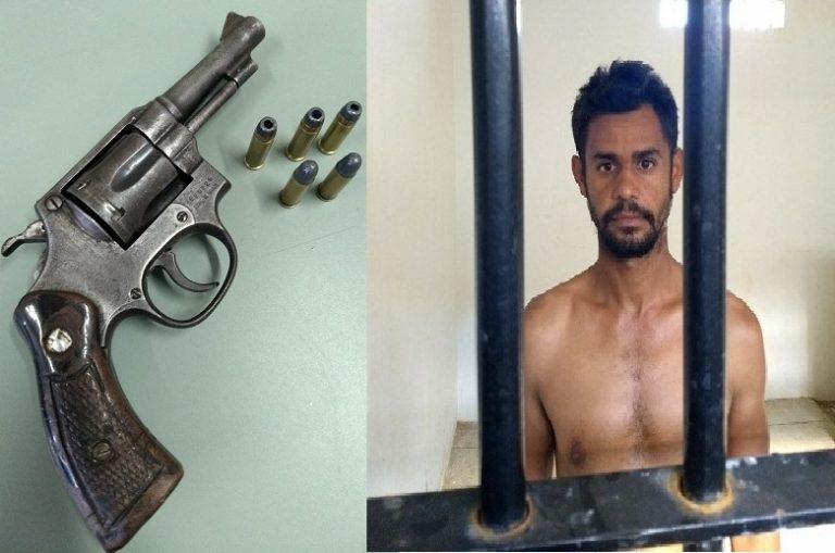 Em Araripe, Fofão é preso ao ser por posse ilegal de arma de fogo