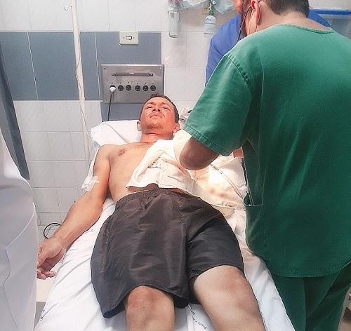 Em Barbalha, acusado de homicídio em Ouricuri-PE foi preso ao dá entrada na emergência do hospital São Vicente de Paulo esfaqueado