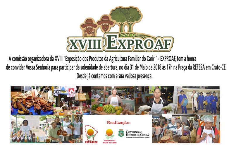 CRATO Exproaf 2018 espera expositores de 28 municípios do Cariri