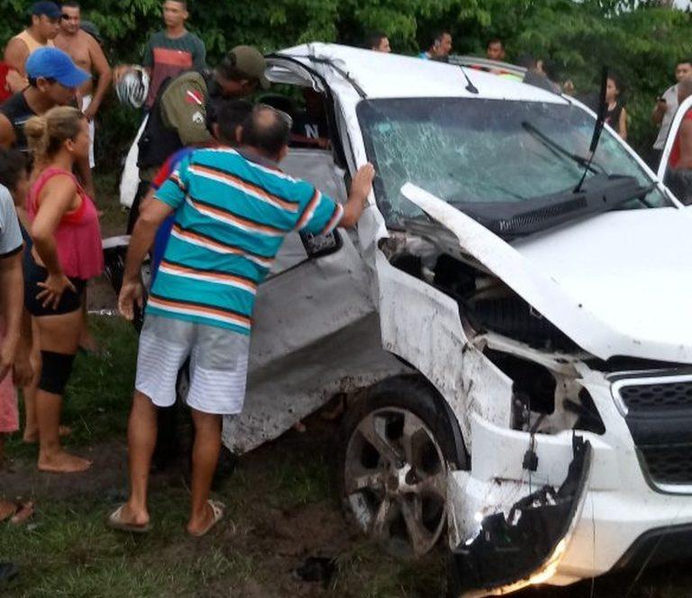 Juazeirense morre em colisão frontal entre veículos na BR-308, no interior do estado do Pará Foto ReproduçãoTV Liberal (1)