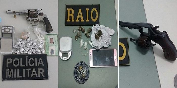 Policia Militar apreende armas de fogo, munições e drogas em Crato
