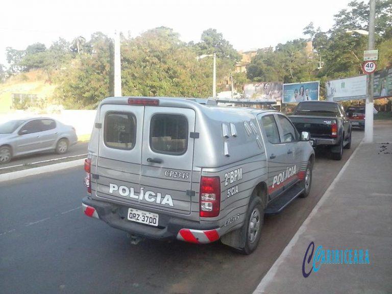 Quarteto de Juazeirenses preso em Crato suspeito de pratica de assaltos utilizando HB20 alugado a locadora de carros