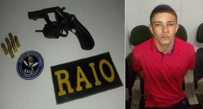 Jovem  se arma para mata  seguranças da festa de Barbalha, mas acaba é preso pelo Raio antes de cometer o crime