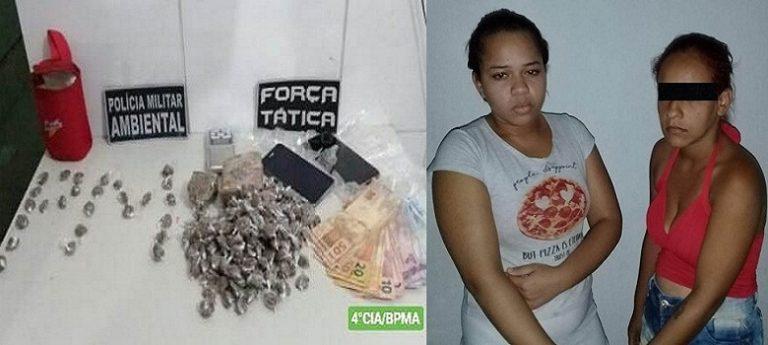 Maria Welida Nunes Dos Santos, 16 anos, e Francisca Raquel Mestre Duarte, 23 anos