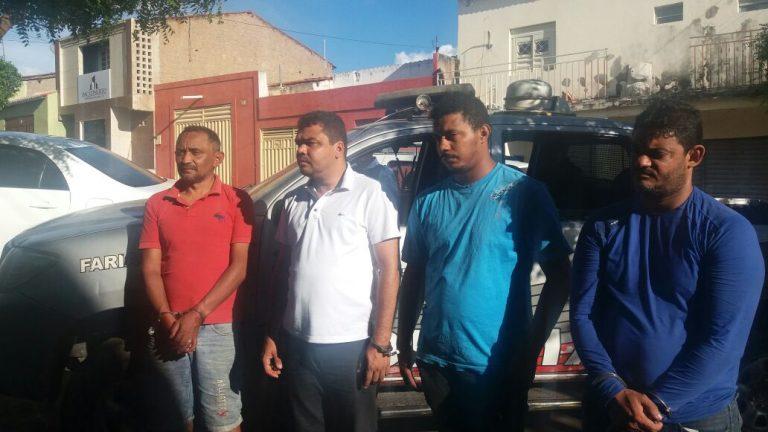 PM de Farias Brito prende quarteto acusado de formação de quadrilha, tentativa de latrocínio e roubo