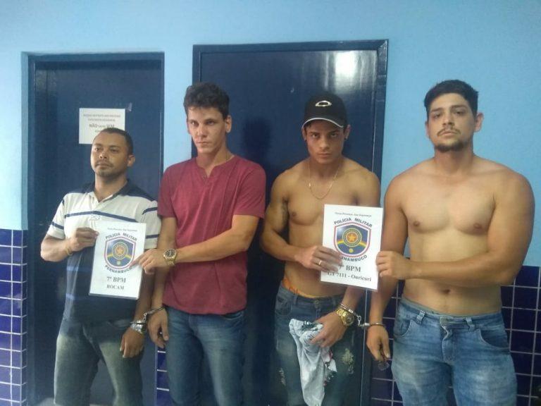 Quatro jovens residentes em Crato-CE foram presos em Ouricuri-PE  acusados de formação de quadrilha e estelionato