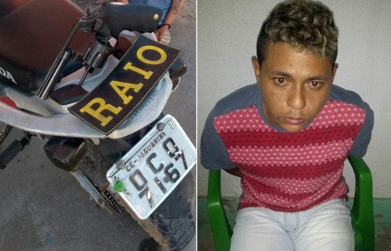Casal é conduzido a 20ª DRPC  de Juazeiro acusado de porte ilegal de arma, roubo de veículo e a pessoa