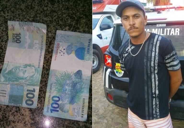 Crediarista juazeirense residente em Tarrafas-CE é preso com dinheiro falso em Assaré-CE
