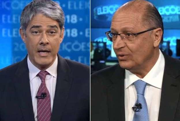 """Um """"elogio"""" de Alckmin a Bonner no JN deu o que falar nas redes sociais"""