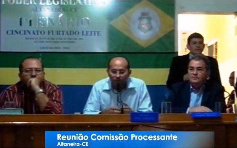 Comissão adia decisão sobre prosseguimento ou não do Processo de Cassação do Prefeito de Altaneira