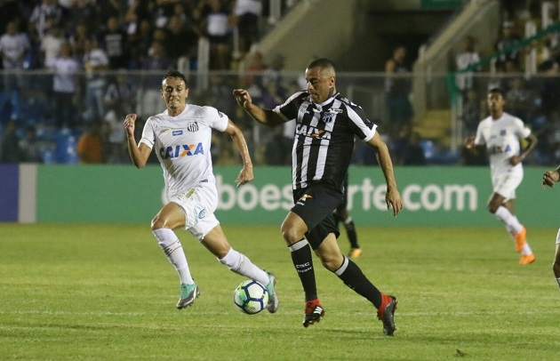 Brasileirão: Ceará e Santos empatam em jogo realizado no PV