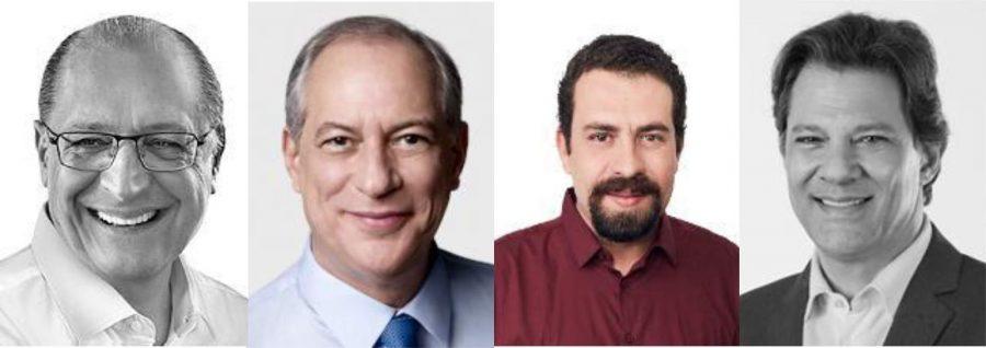 Geraldo, Ciro, Boulos e Haddad
