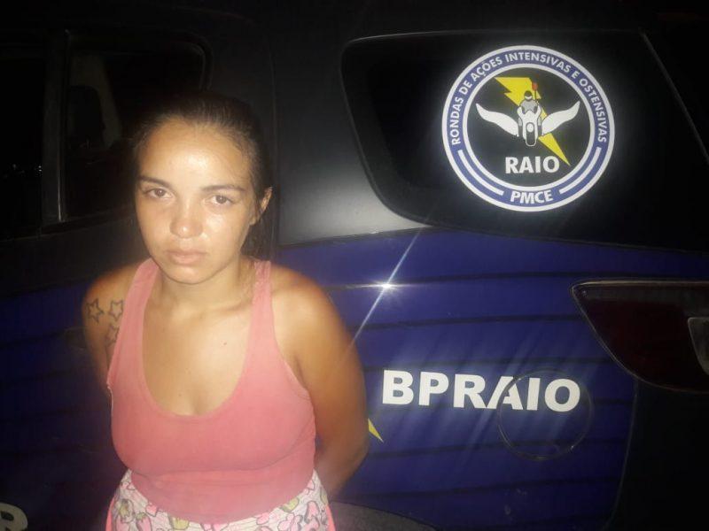 Em Mauriti, mulher de 23 anos é presa de posse de  maconha e cocaína