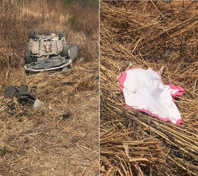 Menina de 4 anos morre após ser arremessado de carro em acidente na CE-060, em Caririaçu